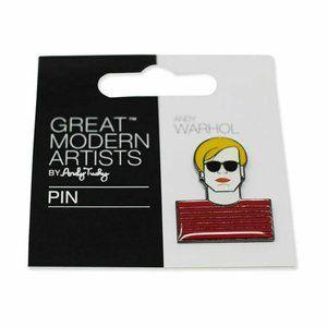 Great Modern Artists ~ Andy Warhol Face Enamel Pin